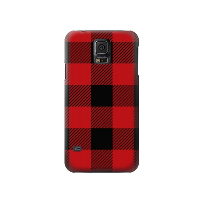 Printed Red Buffalo Check Pattern Samsung Galaxy S5 Case