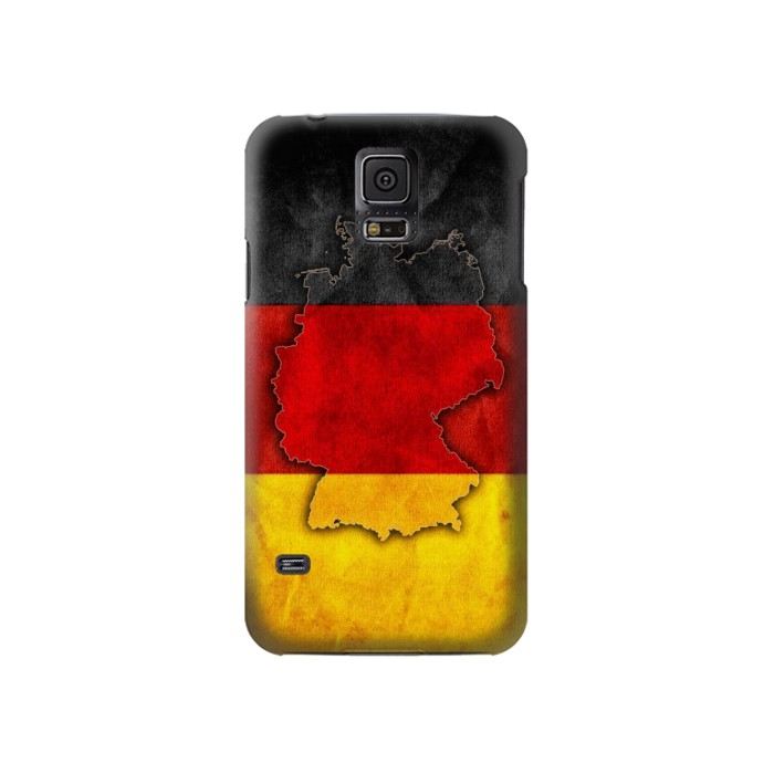 Printed Germany Flag Map Samsung Galaxy S5 Case