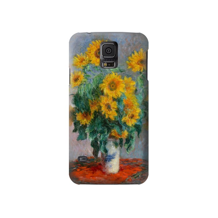 Printed Claude Monet Bouquet of Sunflowers Samsung Galaxy S5 Case