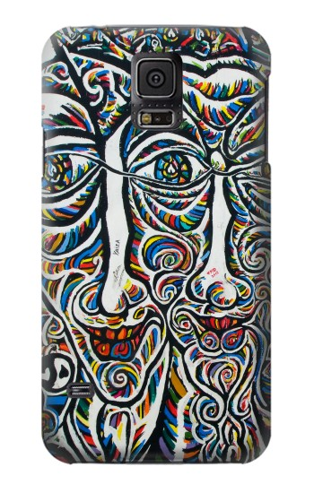 Printed Colorful Faces Berlin Wall Samsung Galaxy S5 Case