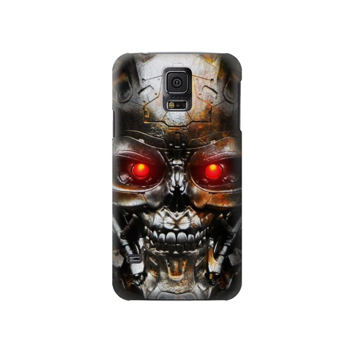 Printed Vintage Robot Skeleton Skull Head Samsung Galaxy S5 Case