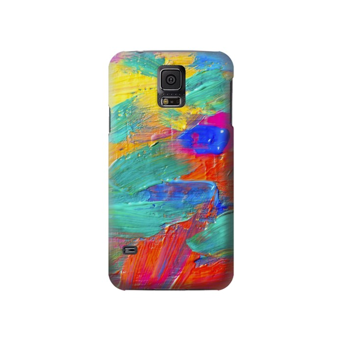 Printed Brush Stroke Painting Samsung Galaxy S5 Case