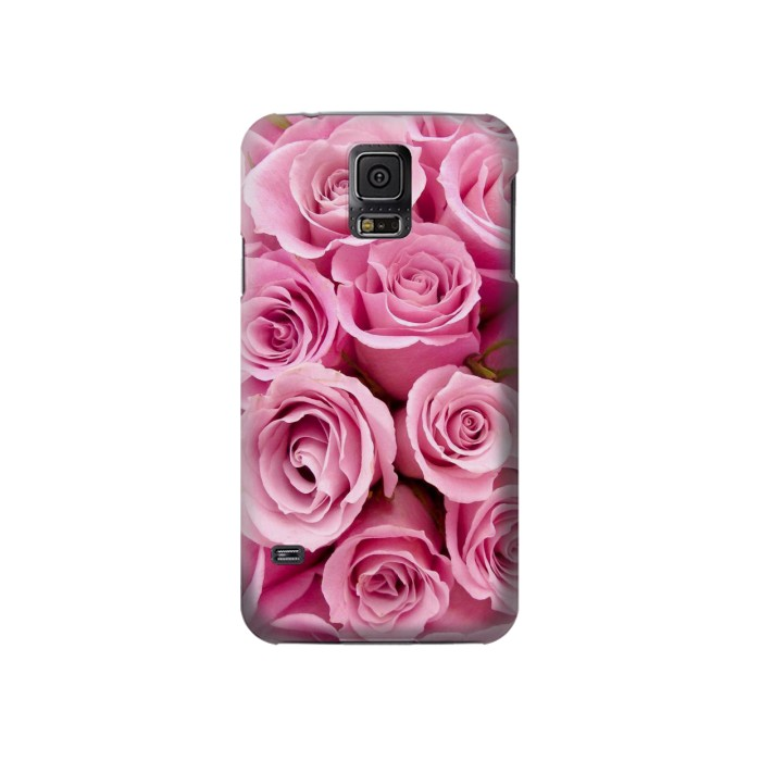 Printed Pink Rose Samsung Galaxy S5 Case