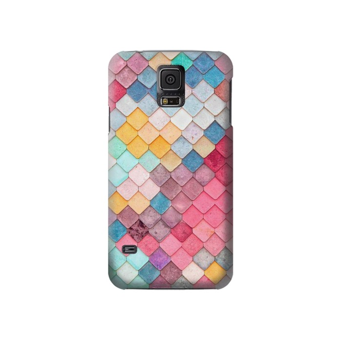 Printed Candy Minimal Pastel Colors Samsung Galaxy S5 Case
