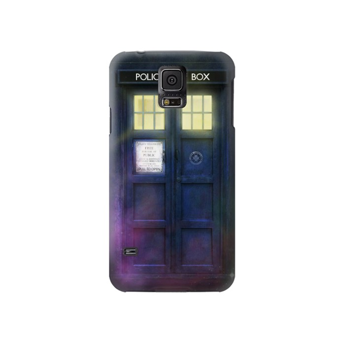 Printed Tardis Phone Box Samsung Galaxy S5 Case