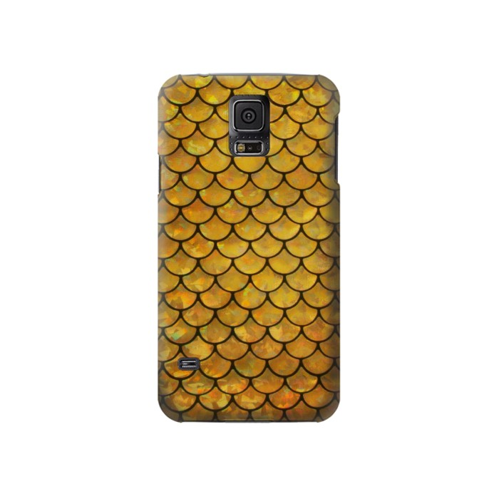 Printed Gold Fish Scale Samsung Galaxy S5 Case