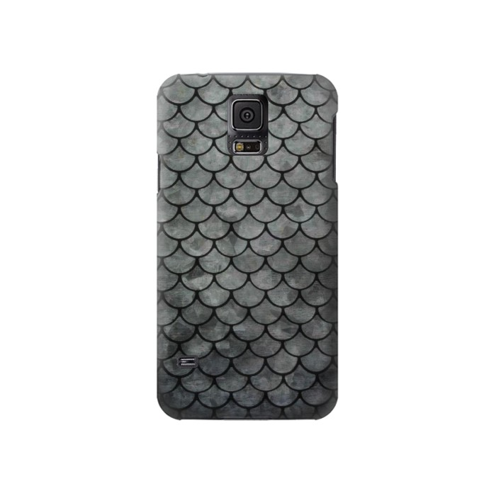 Printed Silver Fish Scale Samsung Galaxy S5 Case