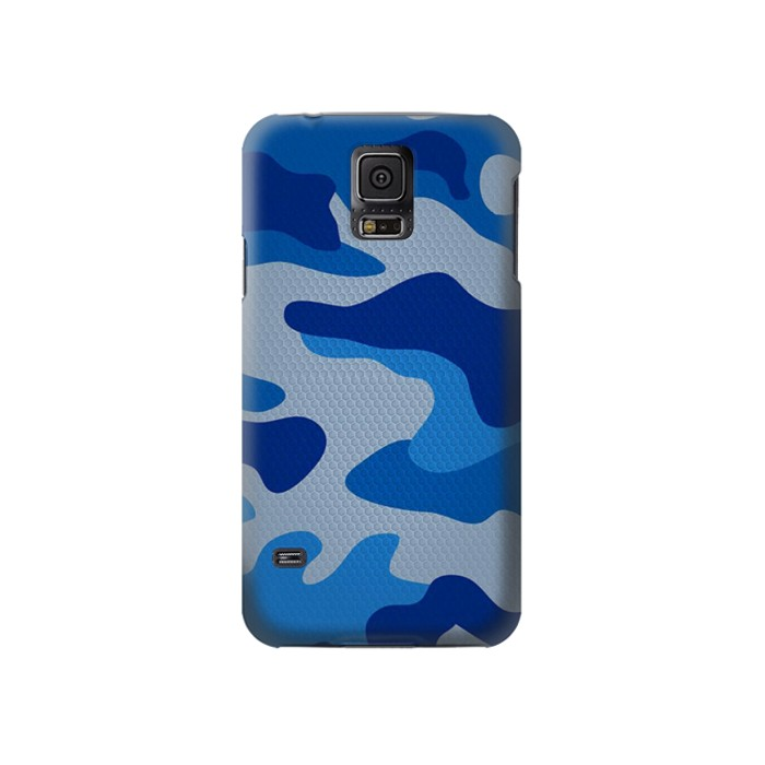 Printed Army Blue Camouflage Samsung Galaxy S5 Case