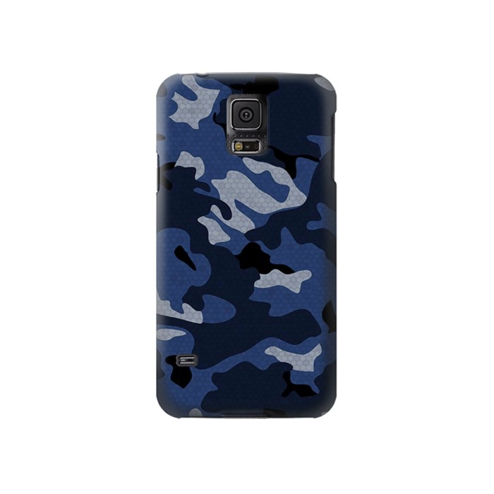 Printed Navy Blue Camouflage Samsung Galaxy S5 Case