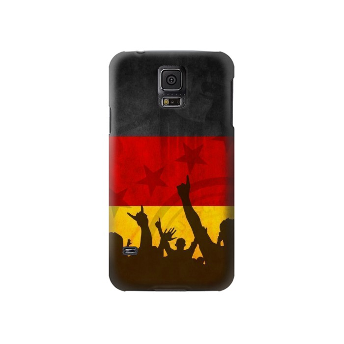 Printed Germany Football Flag Samsung Galaxy S5 Case