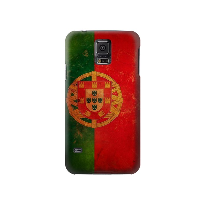 Printed Vintage Portugal Flag Samsung Galaxy S5 Case