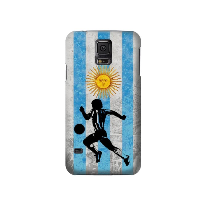 Printed Argentina Football Flag Samsung Galaxy S5 Case
