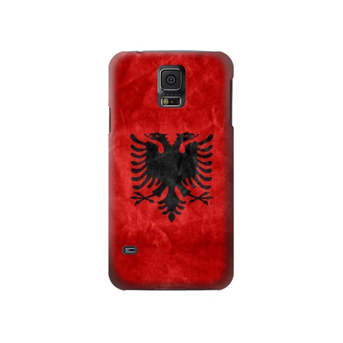 Printed Albania Red Flag Samsung Galaxy S5 Case