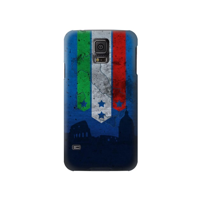 Printed Italy Football Flag Samsung Galaxy S5 Case
