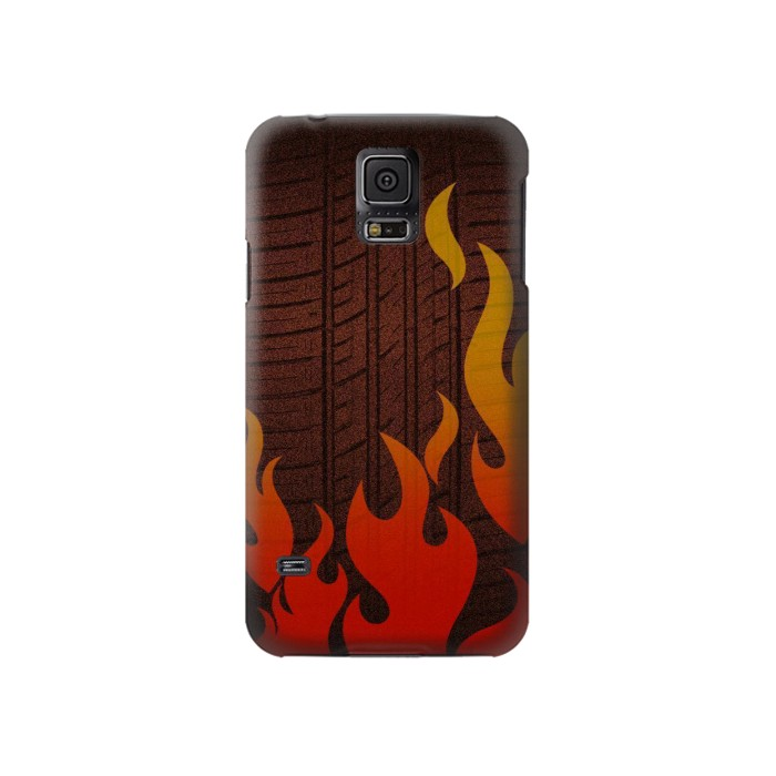 Printed Rally Car Tire Samsung Galaxy S5 Case