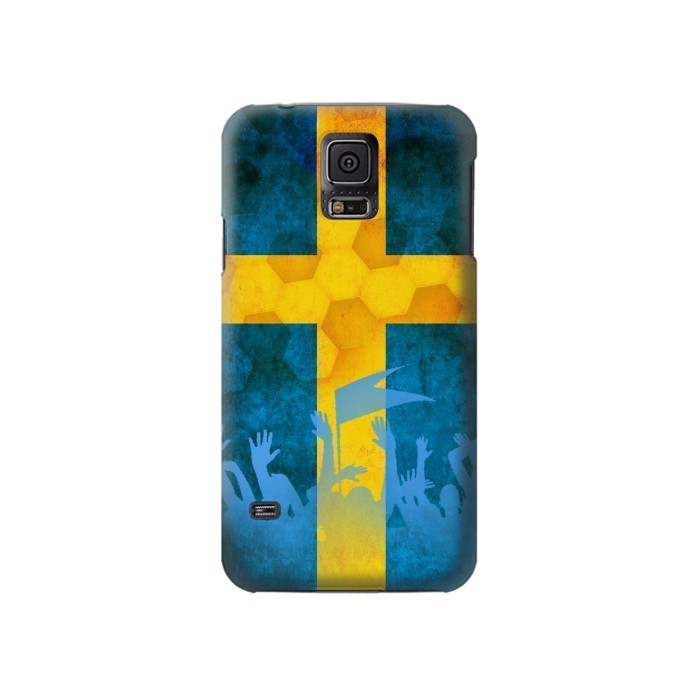 Printed Sweden Football Flag Samsung Galaxy S5 Case