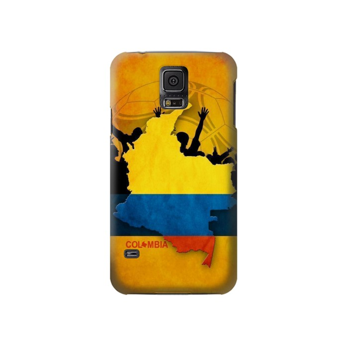 Printed Colombia Football Flag Samsung Galaxy S5 Case