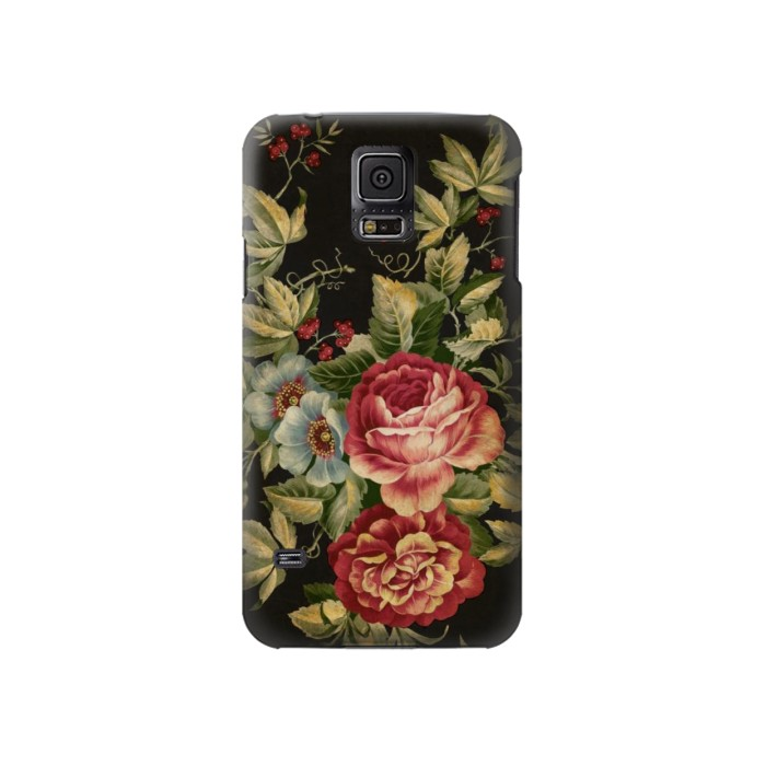 Printed Vintage Antique Roses Samsung Galaxy S5 Case
