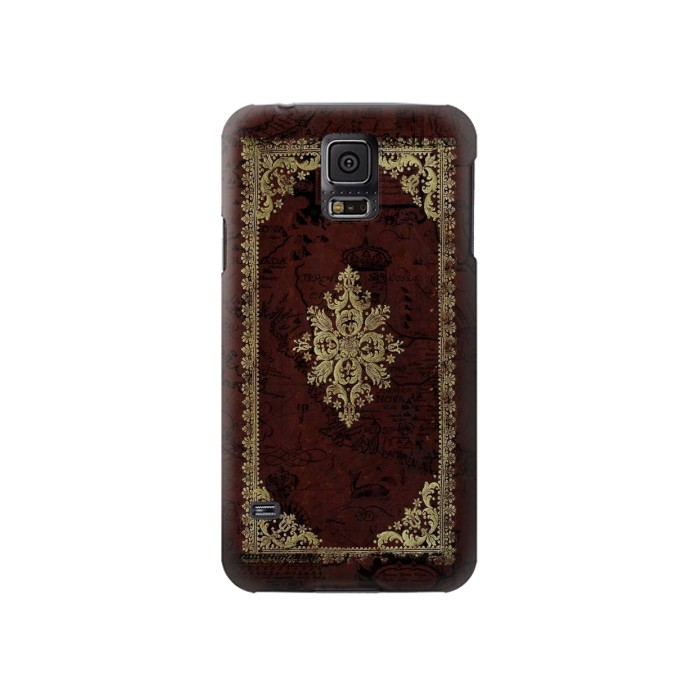 Printed Vintage Map Book Cover Samsung Galaxy S5 Case