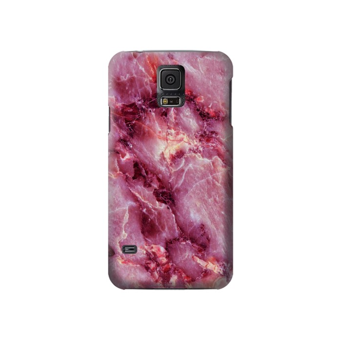 Printed Pink Marble Texture Samsung Galaxy S5 Case