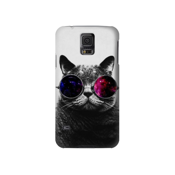 Printed Cool Cat Glasses Samsung Galaxy S5 Case