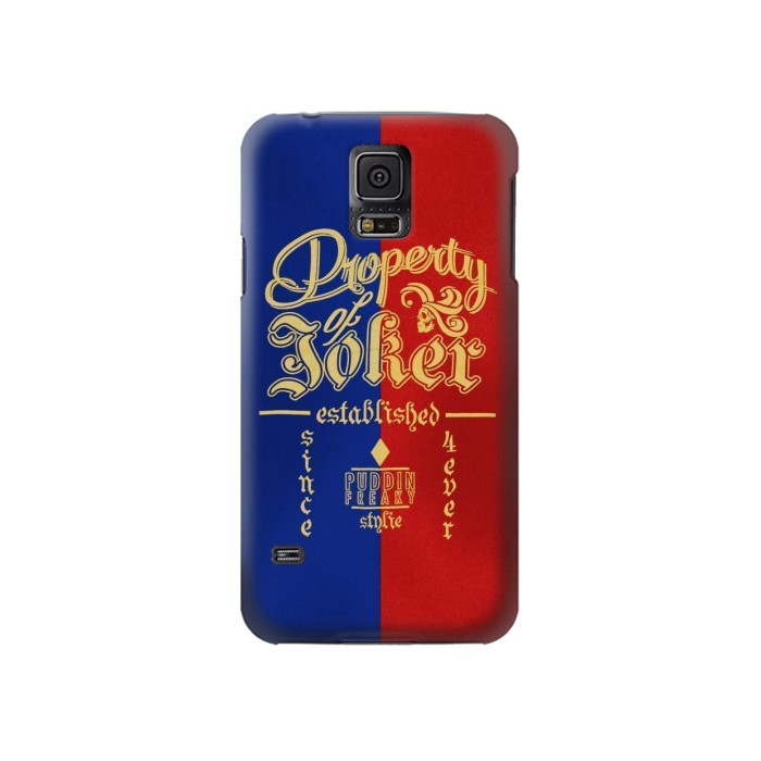 Printed Property of Joker Puddin Freaky Style Samsung Galaxy S5 Case