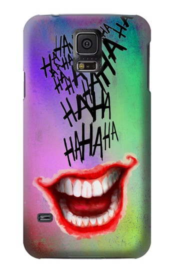 Printed Joker Hahaha Tattoo Samsung Galaxy S5 Case