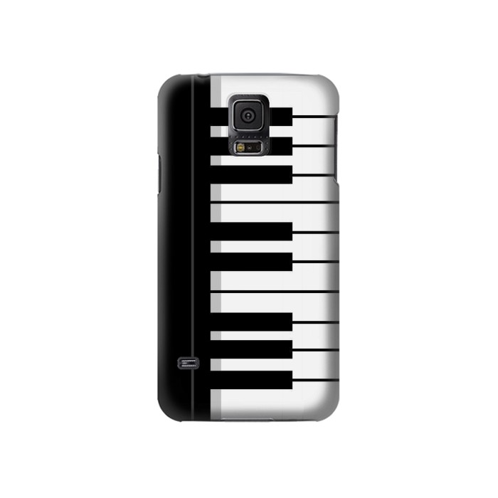 Printed Black and White Piano Keyboard Samsung Galaxy S5 Case