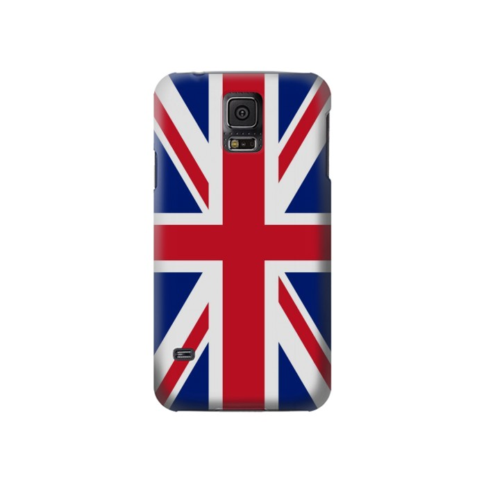 Printed Flag of The United Kingdom Samsung Galaxy S5 Case