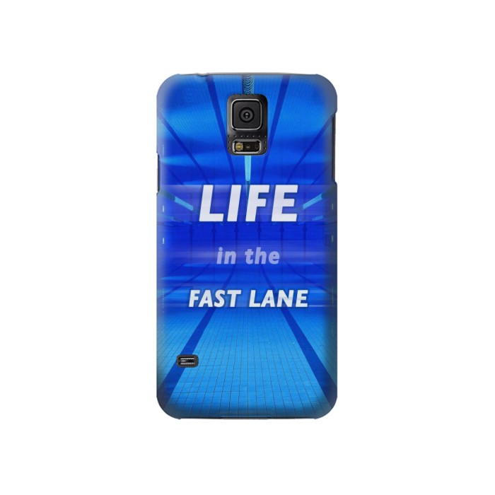 Printed Life in the Fast Lane Swimming Pool Samsung Galaxy S5 Case