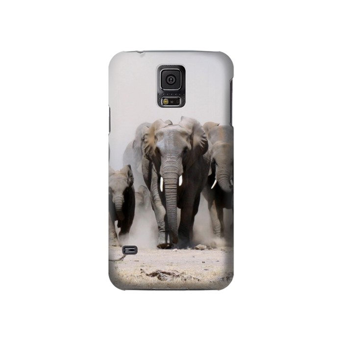 Printed African Elephant Samsung Galaxy S5 Case