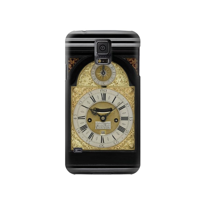 Printed Antique Bracket Clock Samsung Galaxy S5 Case