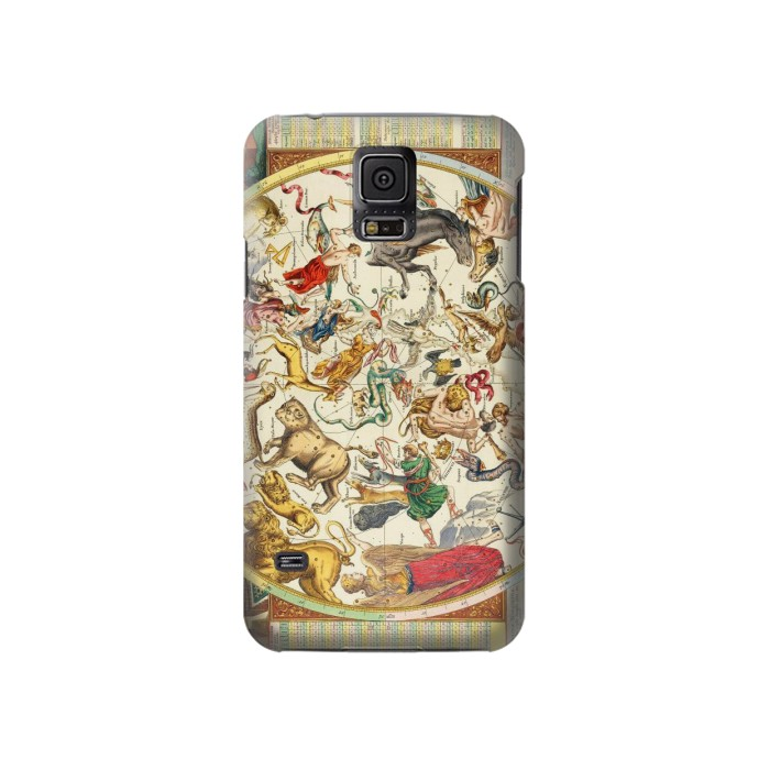 Printed Antique Constellation Map Samsung Galaxy S5 Case