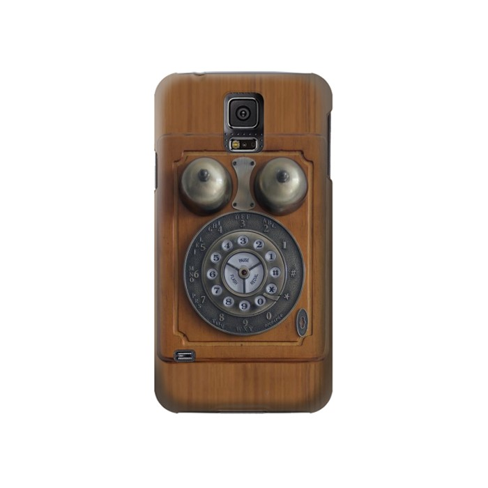 Printed Antique Wall Phone Samsung Galaxy S5 Case