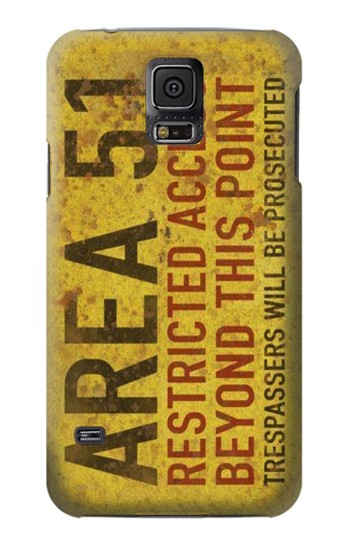 Printed Area 51 Restricted Access Warning Sign Samsung Galaxy S5 Case