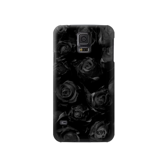Printed Black Roses Samsung Galaxy S5 Case