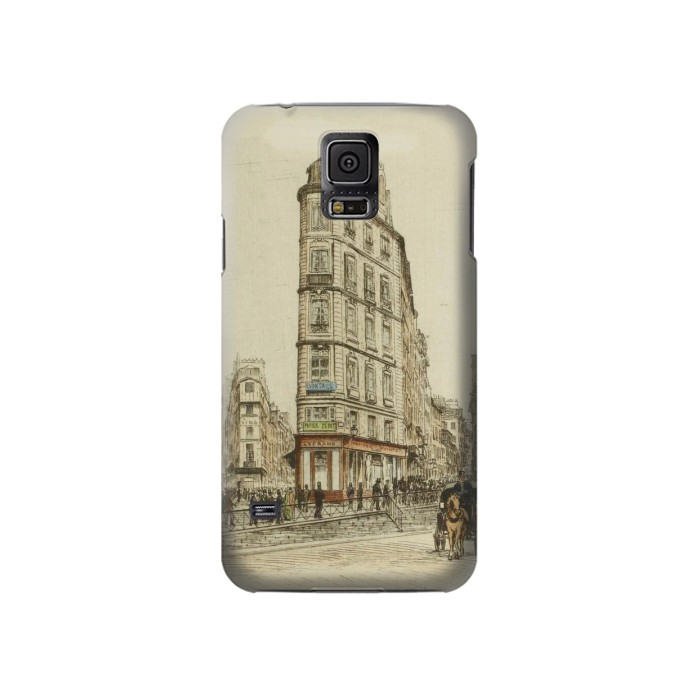 Printed Boulevards of Paris Samsung Galaxy S5 Case