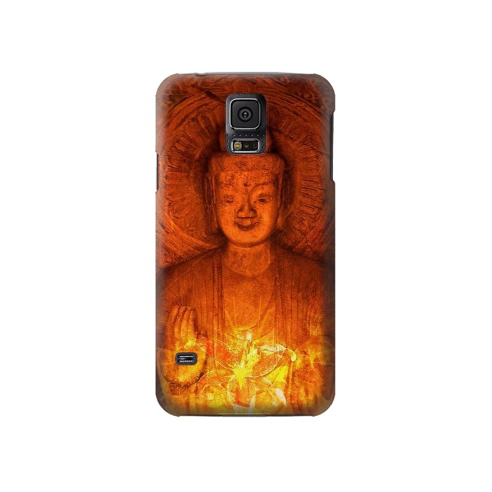 Printed Buddha Spiritual Holy Lights Samsung Galaxy S5 Case