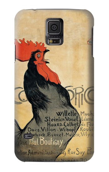 Printed Cocorico Rooster Vintage French Poster Samsung Galaxy S5 Case