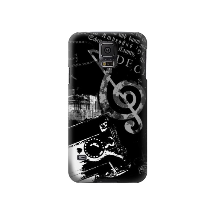 Printed Music Cassette Note Samsung Galaxy S5 Case
