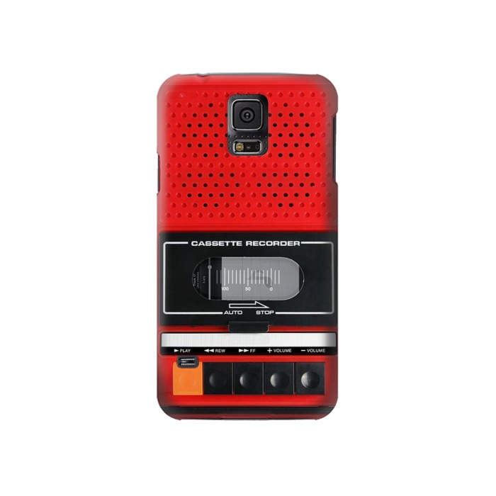 Printed Red Cassette Recorder Graphic Samsung Galaxy S5 Case