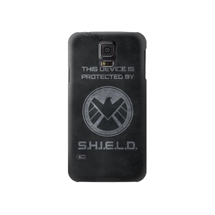 Printed This Device is Protected by Shield Samsung Galaxy S5 Case
