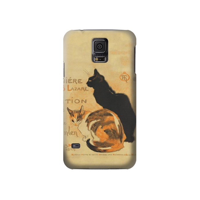 Printed Vintage Cat Poster Samsung Galaxy S5 Case