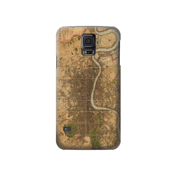 Printed Vintage Map of London Samsung Galaxy S5 Case
