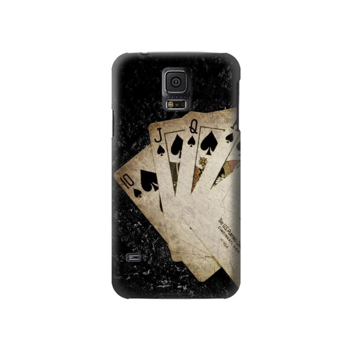Printed Vintage Royal Straight Flush Cards Samsung Galaxy S5 Case