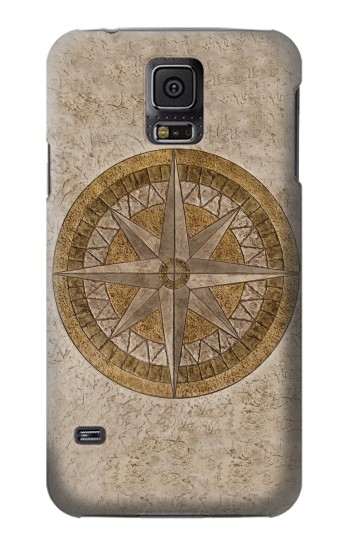 Printed Windrose Circle Stamp Samsung Galaxy S5 Case