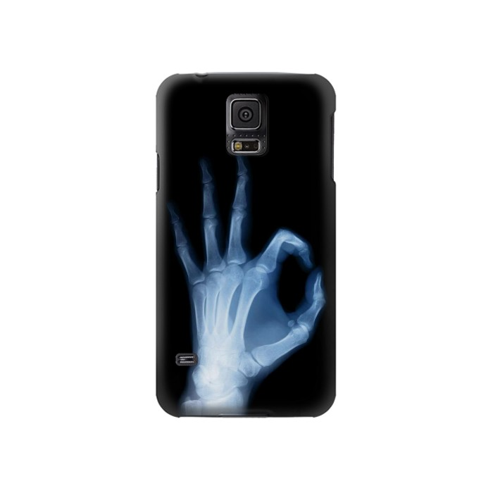 Printed X-Ray Hand Sign OK Samsung Galaxy S5 Case