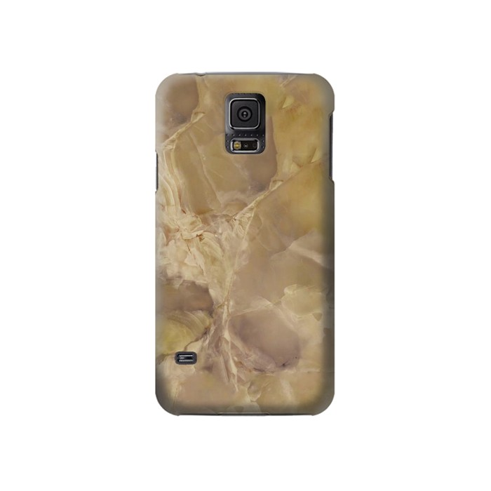 Printed Yellow Marble Stone Samsung Galaxy S5 Case