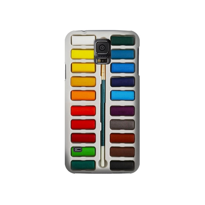 Printed Watercolor Paint Set Samsung Galaxy S5 Case