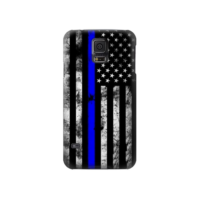 Printed Thin Blue Line USA Samsung Galaxy S5 Case